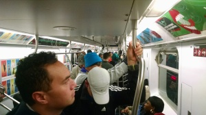 Packed subway full of runners .. #oneaccord