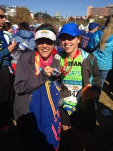 My wonderful client made her goal - successfully completing her first 26.2, AND she qualified for the Boston Marathon! SO happy for her!