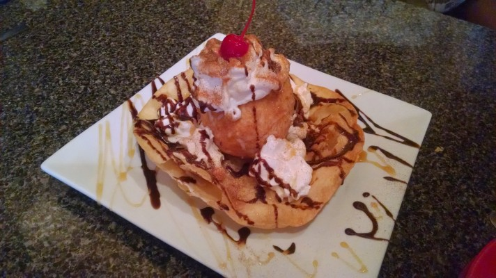 Aubrey Eicher - Dessert - Fried Ice Cream - Workaholism Post